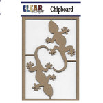 Clear Scraps - Chipboard Embellishments - Geckos