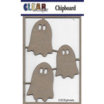 Clear Scraps - Halloween - Chipboard Embellishments - Ghosts