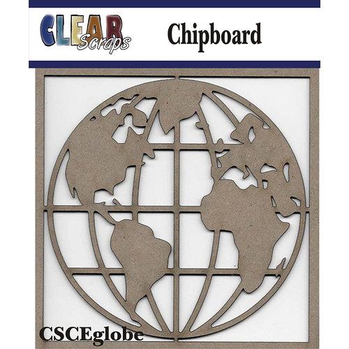 Clear Scraps - Chipboard Embellishments - Globe