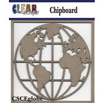 Clear Scraps - Chipboard Embellishments - Globe