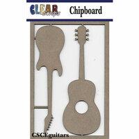 Clear Scraps - Chipboard Embellishments - Guitars