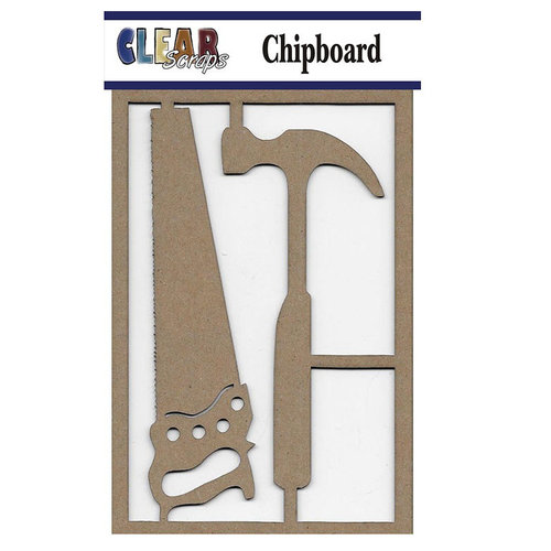 Clear Scraps - Chipboard Embellishments - Hammer n Saw