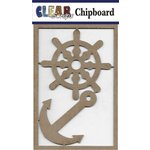 Clear Scraps - Chipboard Embellishments - Helm and Anchor