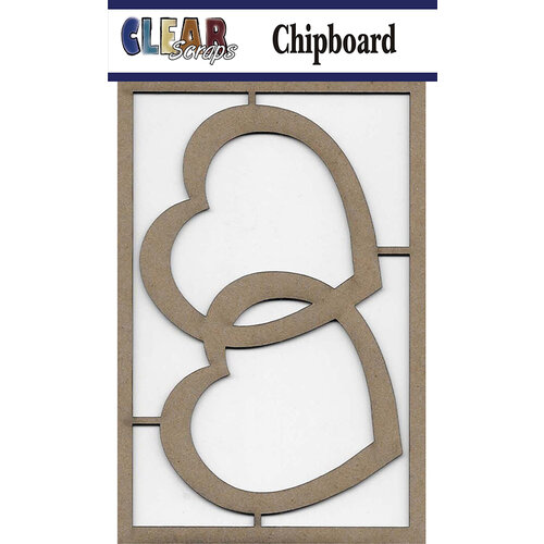 Clear Scraps - Chipboard Embellishments - Hearts 2