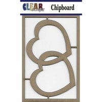 Clear Scraps - Chipboard Embellishments - Hearts 2