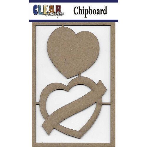 Clear Scraps - Chipboard Embellishments - Heart Sign