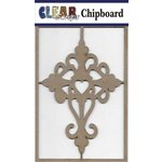 Clear Scraps - Chipboard Embellishments - Heart Cross