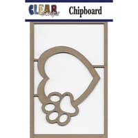 Clear Scraps - Chipboard Embellishments - Heart Paw