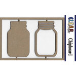 Clear Scraps - Chipboard Embellishments - Mason Jars
