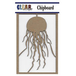 Clear Scraps - Chipboard Embellishments - Jellyfish