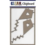 Clear Scraps - Chipboard Embellishments - Kites with Hearts