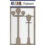 Clear Scraps - Chipboard Embellishments - Lamp Post