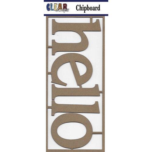 Clear Scraps - Chipboard Embellishments - Hello