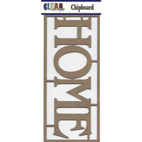 Clear Scraps - Chipboard Embellishments - Home
