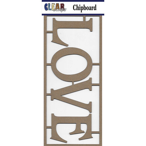 Clear Scraps - Chipboard Embellishments - Love