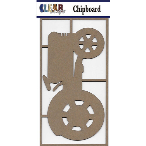 Clear Scraps - Chipboard Embellishments - Large Tractor