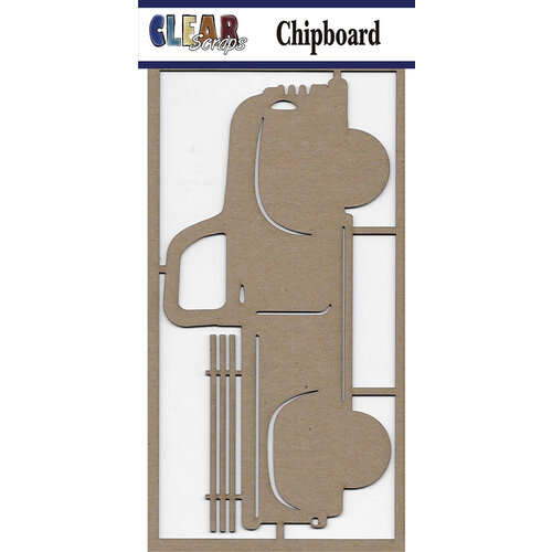 Clear Scraps - Chipboard Embellishments - Large Vintage Truck