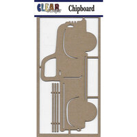 Clear Scraps - Chipboard Embellishments - Large Vintage Truck
