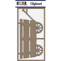 Clear Scraps - Chipboard Embellishments - Large Wagon