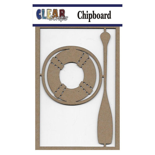 Clear Scraps - Chipboard Embellishments - Life Ring n Paddle