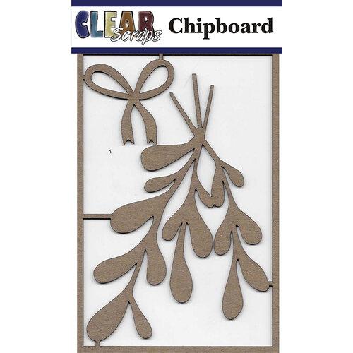 Clear Scraps - Christmas - Chipboard Embellishments - Mistletoe