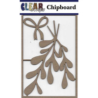 Clear Scraps - Christmas - Chipboard Embellishments - Mistletoe