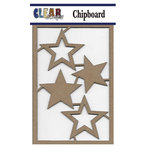 Clear Scraps - Chipboard Embellishments - Multi Stars