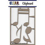 Clear Scraps - Chipboard Embellishments - Music Notes