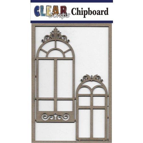 Clear Scraps - Chipboard Embellishments - Mixed Fancy Windows