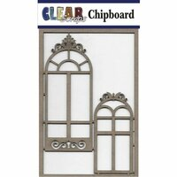 Clear Scraps - Chipboard Embellishments - Mixed Fancy Windows