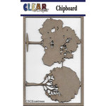 Clear Scraps - Chipboard Embellishments - Oak Trees