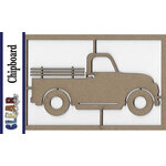 Clear Scraps - Chipboard Embellishments - Old Truck