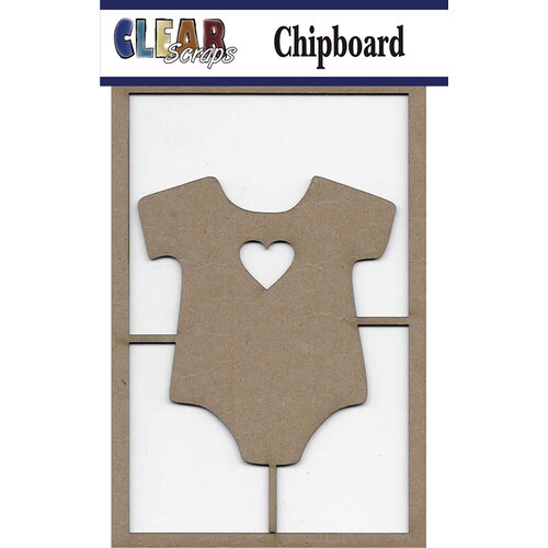 Clear Scraps - Chipboard Embellishments - Onesie