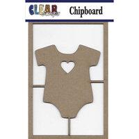 Clear Scraps - Chipboard Embellishments - Onesie