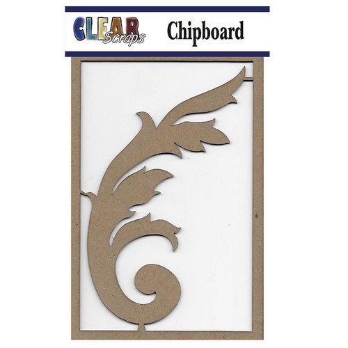 Clear Scraps - Chipboard Embellishments - Ornate Flourish
