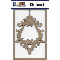 Clear Scraps - Chipboard Embellishments - Ornate Lock