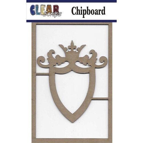 Clear Scraps - Chipboard Embellishments - Ornate Shield