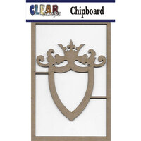 Clear Scraps - Chipboard Embellishments - Ornate Shield