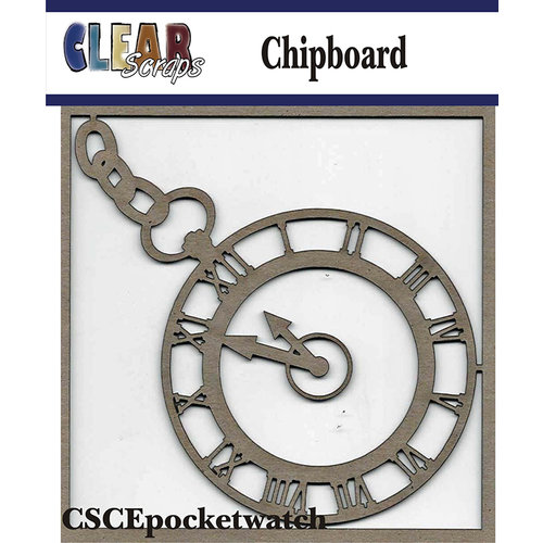 Clear Scraps - Chipboard Embellishments - Pocket Watch