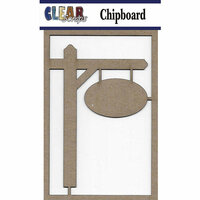 Clear Scraps- Chipboard Embellishments - Post Sign