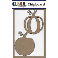 Clear Scraps - Chipboard Embellishments - Pumpkins