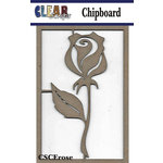 Clear Scraps - Chipboard Embellishments - Rose