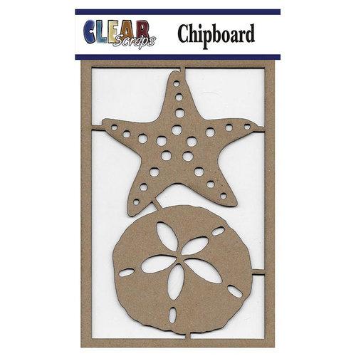 Clear Scraps - Chipboard Embellishments - Sand dollar n Starfish