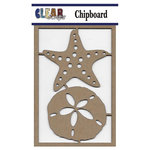 Clear Scraps - Chipboard Embellishments - Sand dollar n Starfish