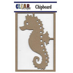 Clear Scraps - Chipboard Embellishments - Seahorse