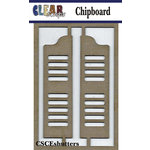 Clear Scraps - Chipboard Embellishments - Shutters