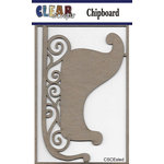 Clear Scraps - Christmas - Chipboard Embellishments - Sled