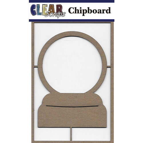 Clear Scraps - Chipboard Embellishments - Snowglobe