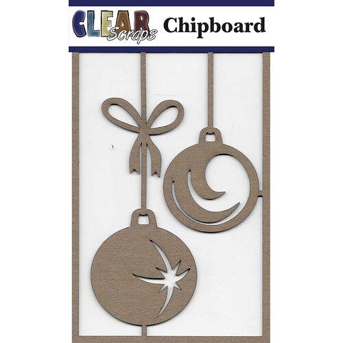Clear Scraps - Christmas - Chipboard Embellishments - Star Bulbs