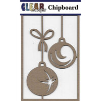 Clear Scraps - Christmas - Chipboard Embellishments - Star Bulbs